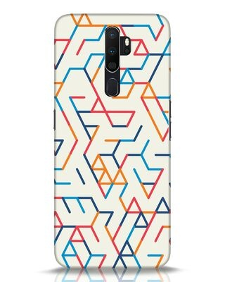 Shop Colorful Lines Oppo A5 2020 Mobile Cover-Front