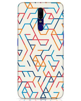 Shop Colorful Lines Oppo F11 Mobile Cover-Front