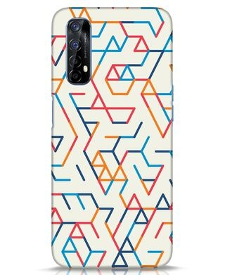 Shop Colorful Lines Realme 7 Mobile Cover-Front