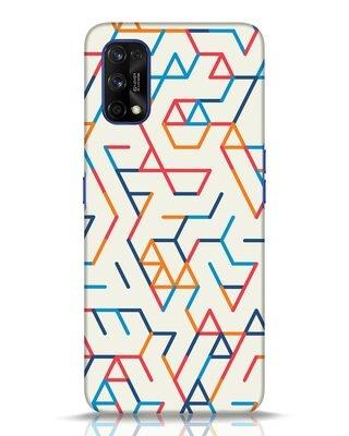 Shop Colorful Lines Realme 7 pro Mobile Cover-Front