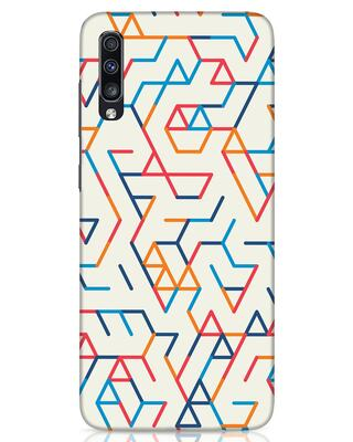 Shop Colorful Lines Samsung Galaxy A70 Mobile Cover-Front