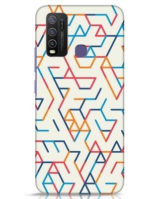 Shop Colorful Lines Vivo Y50 Mobile Cover-Front