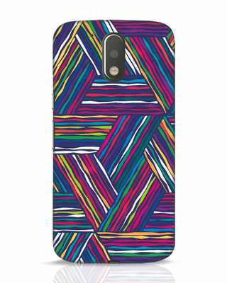Shop Colorful Pattern Moto G4 Plus Mobile Cover-Front