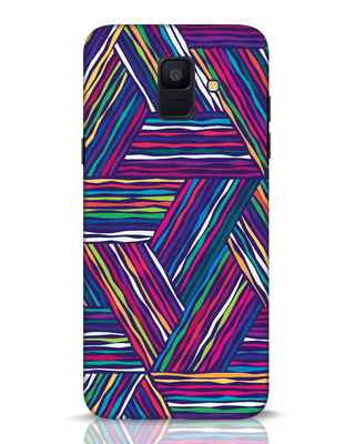 Shop Colorful Pattern Samsung Galaxy A6 2018 Mobile Cover-Front