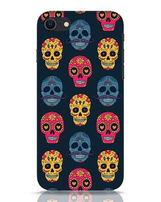 Shop Colorful Skulls iPhone SE 2020 Mobile Cover-Front