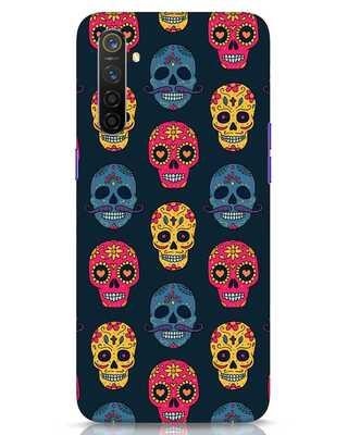 Shop Colorful Skulls Realme 6 Mobile Cover-Front