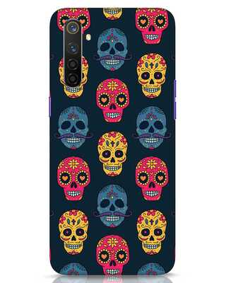 Shop Colorful Skulls Realme 6 Pro Mobile Cover-Front