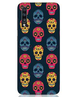 Shop Colorful Skulls Samsung Galaxy A70 Mobile Cover-Front