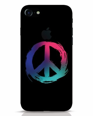 Shop Colors Of Peace iPhone 7 Logo Cut Mobile Cover-Front