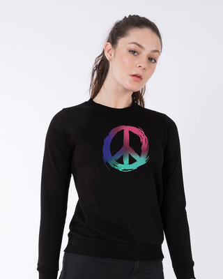 Shop Colors Of Peace Sweatshirt-Front