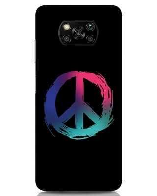 Shop Colors Of Peace Xiaomi Poco x3 Mobile Cover-Front
