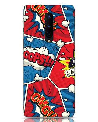 Shop Comic Dialogue Box OnePlus 8 Mobile Cover-Front
