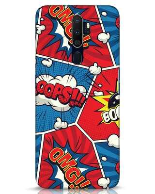 Shop Comic Dialogue Box Oppo A9 2020 Mobile Cover-Front