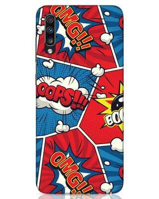 Shop Comic Dialogue Box Samsung Galaxy A70 Mobile Cover-Front