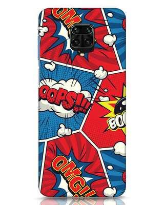 Shop Comic Dialogue Box Xiaomi Redmi Note 9 Pro Max Mobile Cover-Front