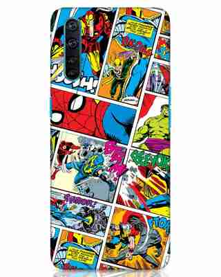 Shop Comic Page Oppo F15 Mobile Cover (AVL)-Front