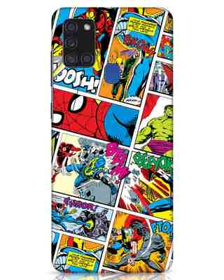 Shop Comic Page Samsung Galaxy A21s Mobile Cover (AVL)-Front
