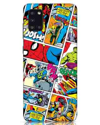 Shop Comic Page Samsung Galaxy A31 Mobile Cover (AVL)-Front