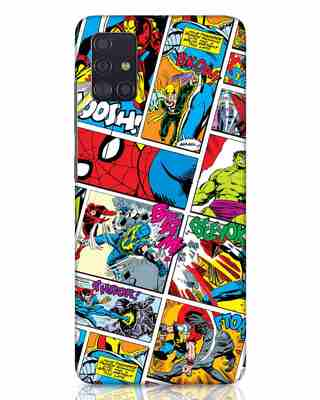 Shop Comic Page Samsung Galaxy A51 Mobile Cover (AVL)-Front
