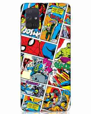 Shop Comic Page Samsung Galaxy A71 Mobile Cover (AVL)-Front