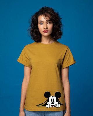 Shop Coming Through Mickey Boyfriend T-Shirt (DL)-Front