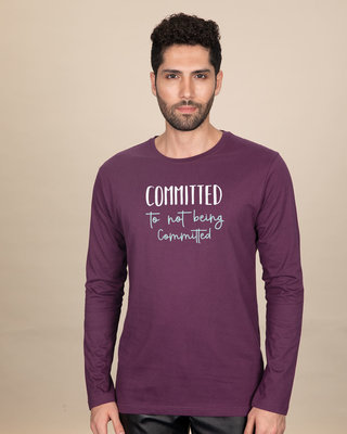 Shop Committed Full Sleeve T-Shirt-Front