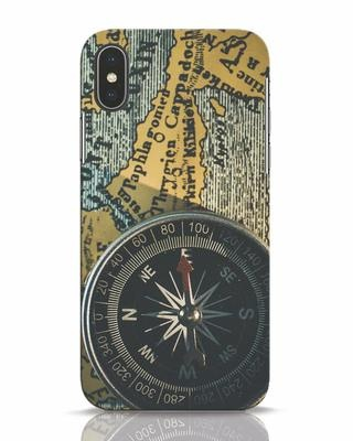 Shop Compass iPhone X Mobile Cover-Front