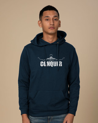 Shop Conquer The World Fleece Hoodies-Front