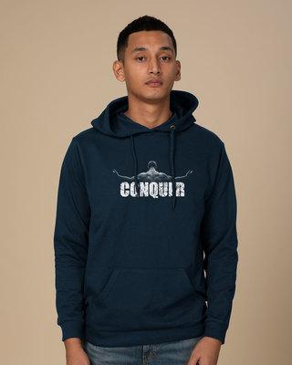 Shop Conquer The World Fleece Hoodies-Front