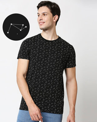 Shop Constellation AOP Half Sleeve T-Shirt-Front