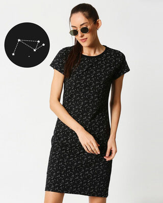Shop Constellations AOP Dress-Front