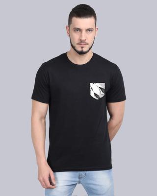 Shop Cooft Pocket design T-Shirt Black-Front