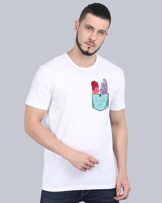 Shop Cooft Pocket design T-Shirt White-Front
