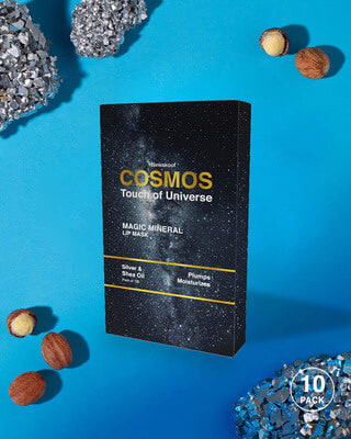 Shop COSMOS Magic Mineral Lip Mask by Bewakoof with Silver & Shea Oil (Pack of 10)-Front