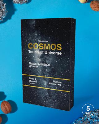 Shop COSMOS Magic Mineral Lip Mask by Bewakoof with Silver & Shea Oil (Pack of 5)-Front