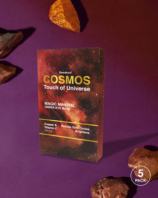 Shop Cosmos Touch of Universe Magic Mineral Under Eye Mask - Copper & Vitamin-C (Pack of 5)-Front