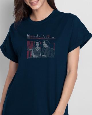 Shop Couple Boyfriend T-Shirts (WVL)-Front