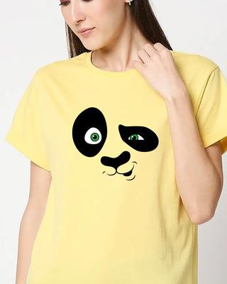 Shop Crazy Panda Boyfriend T-Shirt-Front