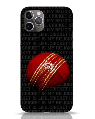 Shop Cricket Is Life & Religion iPhone 11 Pro Mobile Cover-Front