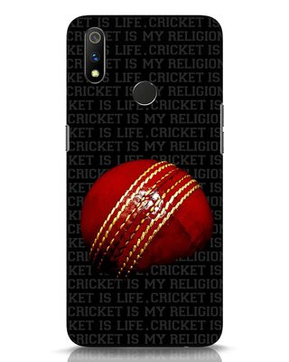 Shop Cricket Is Life & Religion Realme 3 Pro Mobile Cover-Front