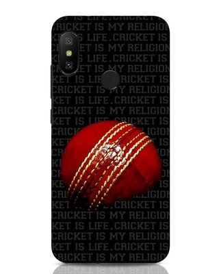 Shop Cricket Is Life & Religion Xiaomi Redmi Note 6 Pro Mobile Cover-Front