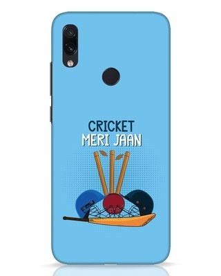 Shop Cricket Meri Jaan Xiaomi Redmi Note 7 Pro Mobile Cover-Front