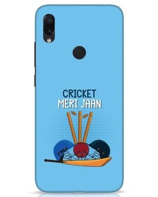 Shop Cricket Meri Jaan Xiaomi Redmi Note 7s Mobile Cover-Front