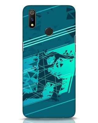 Shop Cricketer Abstract Realme 3 Pro Mobile Cover-Front