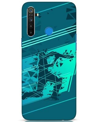 Shop Cricketer Abstract Realme 5 Mobile Cover-Front