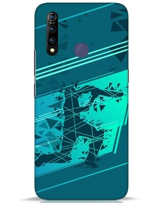 Shop Cricketer Abstract Vivo Z1 Pro Mobile Cover-Front