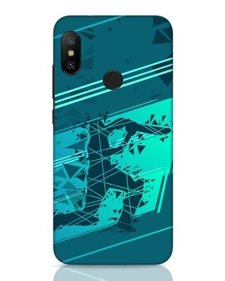 Shop Cricketer Abstract Xiaomi Redmi 6 Pro Mobile Cover-Front