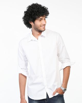 Shop Crisp White Regular Fit Shirt-Front