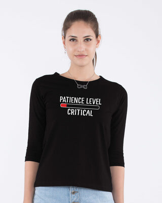 Shop Critical Patience Round Neck 3/4th Sleeve T-Shirt-Front