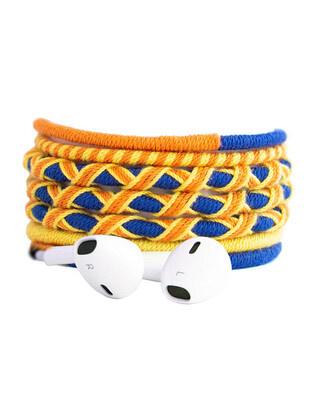 Shop Crossloop Designer Series 3.5mm Universal in-Ear Headphones with Mic and Volume Control (Yellow , Blue , Orange)-Front